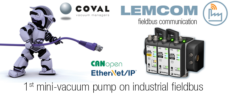 Mini Vacuum Pump on Industrial Fieldbus EtherNet/IP and CANopen