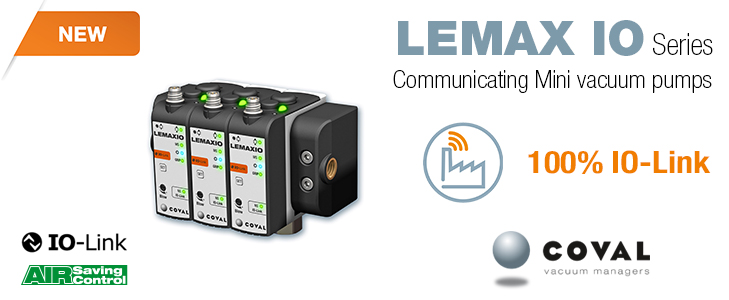 THE NEW MINI VACUUM PUMPS WITH COMMUNICATION IO-LINK SERIES LEMAX IO FROM COVAL