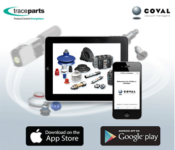 COVAL launches its mobile application with TraceParts