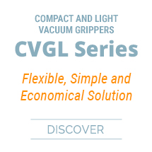 Compact and light vacuum grippers - CVGL Series